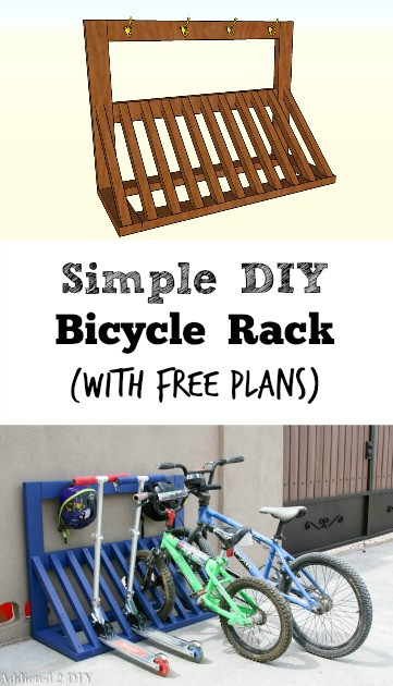 Best ideas about DIY Bicycle Rack . Save or Pin Simple DIY Bicycle Rack with free plans Addicted 2 DIY Now.