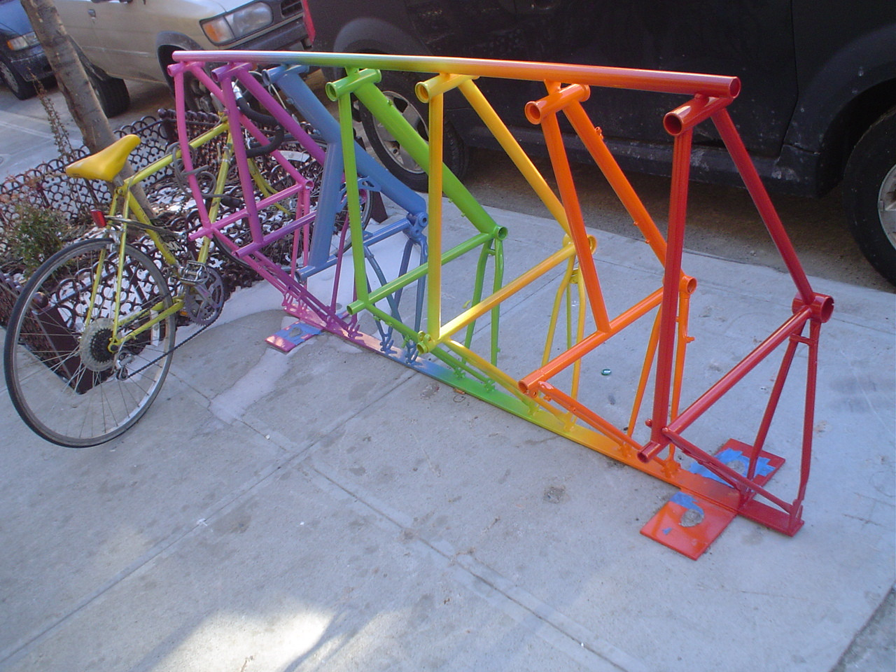 Best ideas about DIY Bicycle Rack . Save or Pin Homemade Bike Parking Rack PDF Woodworking Now.