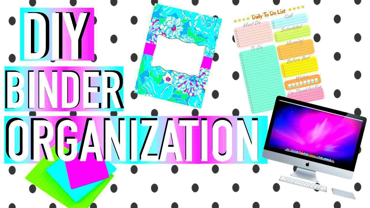Best ideas about DIY Binder Organization . Save or Pin DIY BINDER ORGANIZATION & ORGANIZATION HACKS Now.