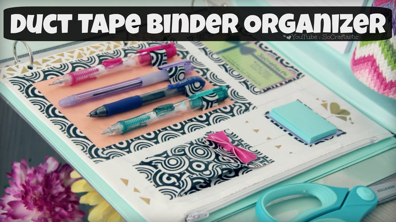 Best ideas about DIY Binder Organization . Save or Pin DIY BINDER ORGANIZER Duct Tape Zipper Pouch & Pen Holder Now.