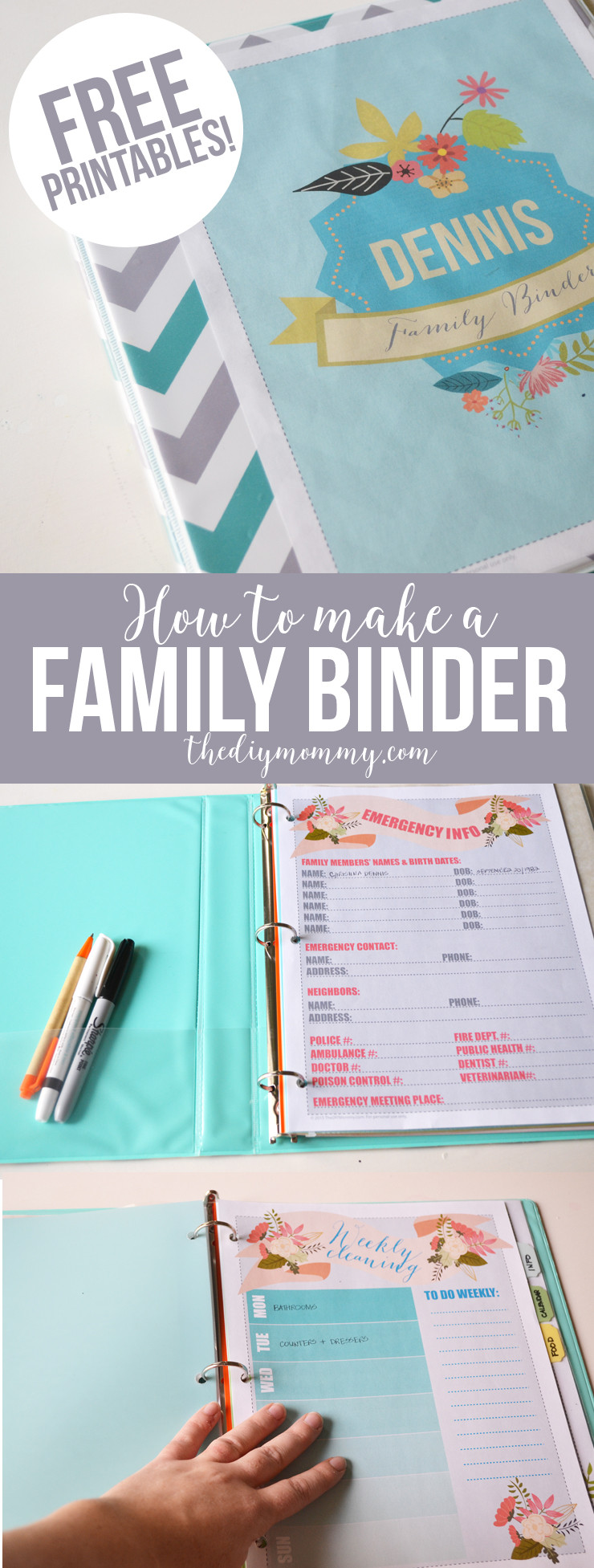 Best ideas about DIY Binder Organization . Save or Pin Make a Household Organization Binder With Free Floral Now.