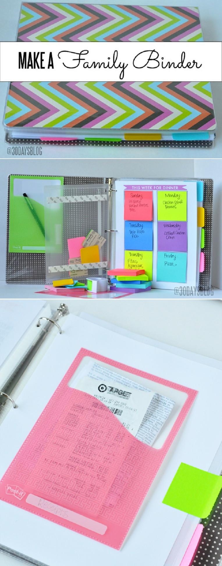Best ideas about DIY Binder Organization . Save or Pin 12 DIY Binder Organization Projects Now.