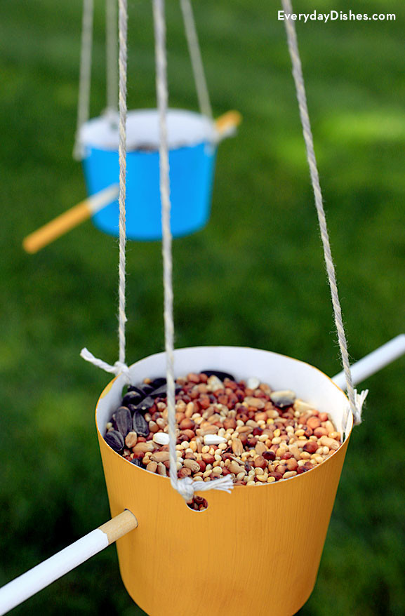 Best ideas about DIY Bird Feeders For Kids . Save or Pin Easy Homemade Bird Feeder Kids Craft Now.