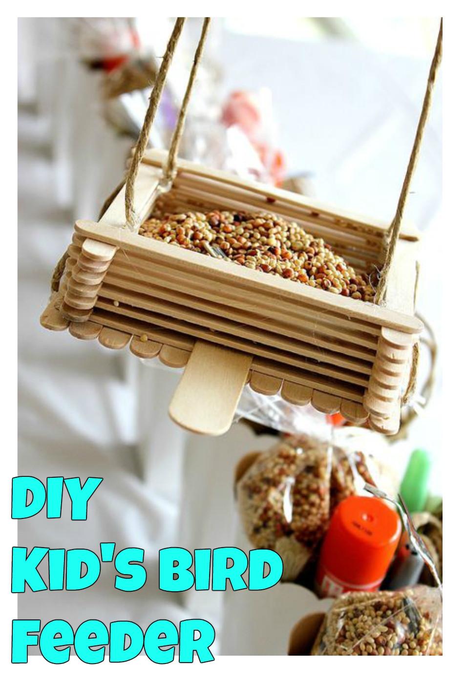Best ideas about DIY Bird Feeders For Kids . Save or Pin DIY Kids Bird Feeder Super Simple Kid s Crafts Now.