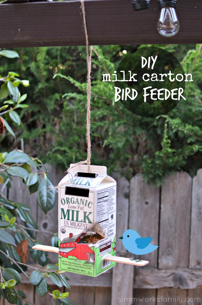 Best ideas about DIY Bird Feeders For Kids . Save or Pin DIY Milk Carton Bird Feeder After School Activities for Kids Now.