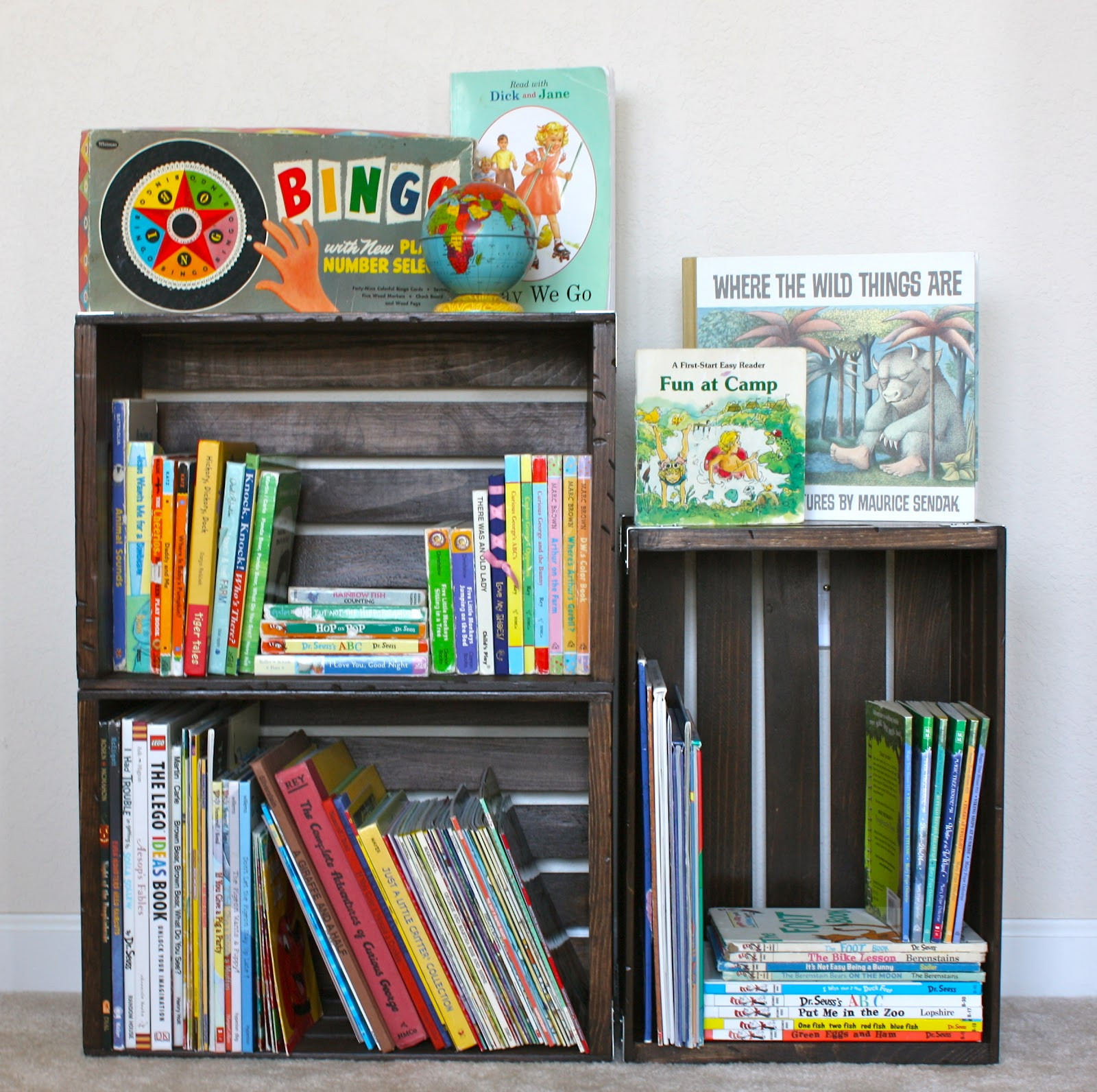 Best ideas about DIY Bookshelf For Kids . Save or Pin christina williams DIY Crate Bookshelf Now.