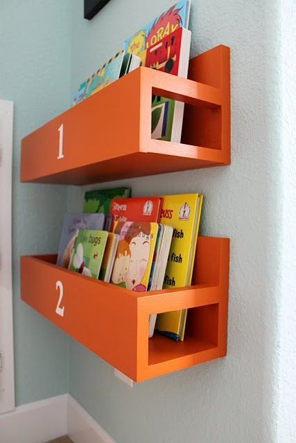 Best ideas about DIY Bookshelves For Kids . Save or Pin DIY bookshelves for the boys room Now.