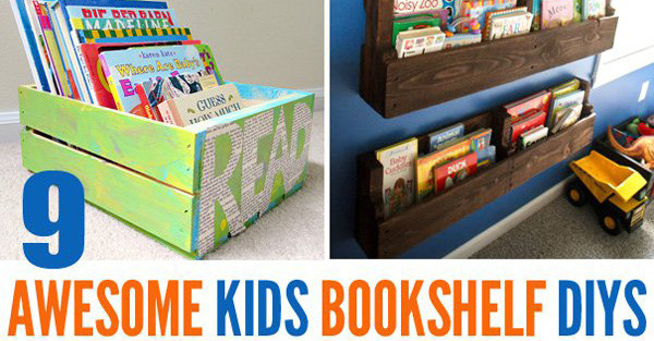 Best ideas about DIY Bookshelves For Kids . Save or Pin 9 Awesome DIY Kids Bookshelves Now.