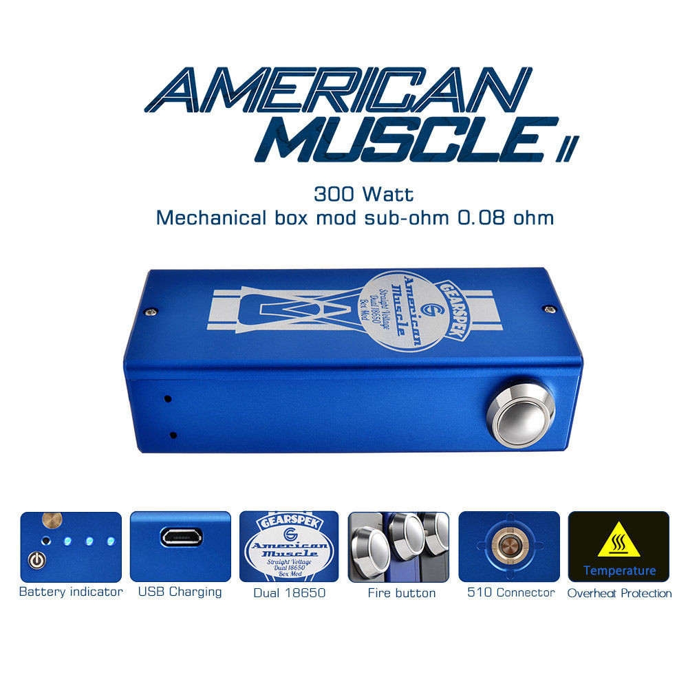 Best ideas about DIY Box Mod Kit . Save or Pin American Muscle V2 300w Dual DIY Unregulated Now.