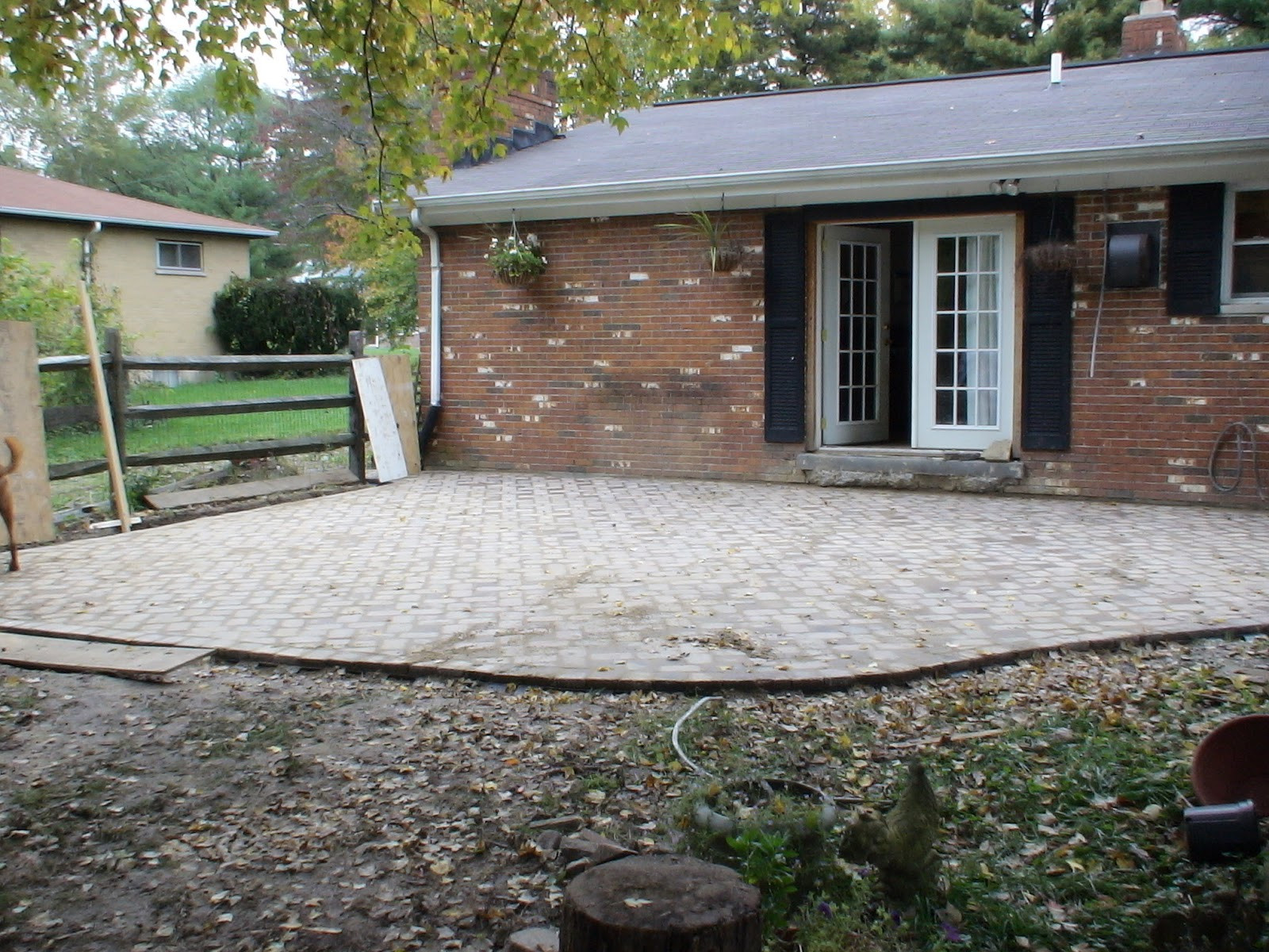 Best ideas about DIY Brick Patio . Save or Pin Chez V Tales from the Projects DIY Paver Patio & Pond Now.