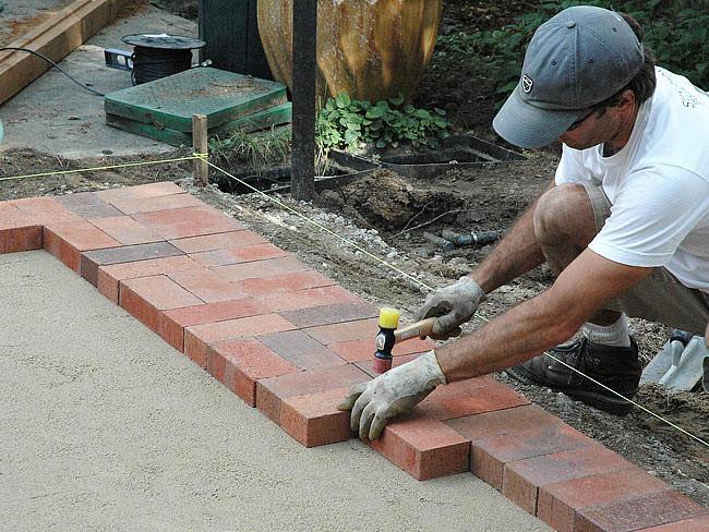 Best ideas about DIY Brick Patio . Save or Pin DIY Brick Paver Patio Quiet Corner Now.