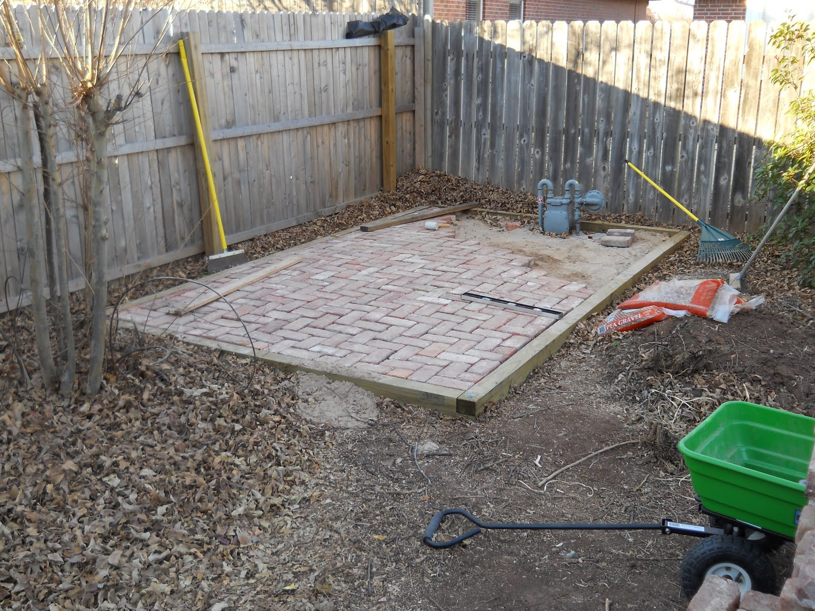 Best ideas about DIY Brick Patio . Save or Pin Oklahoma Projects Around The House DIY Brick Patio Now.