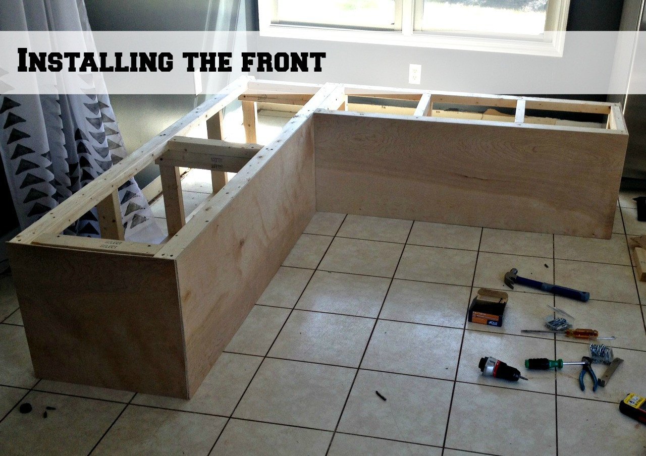 Best ideas about DIY Built In Bench . Save or Pin Remodelaholic Now.