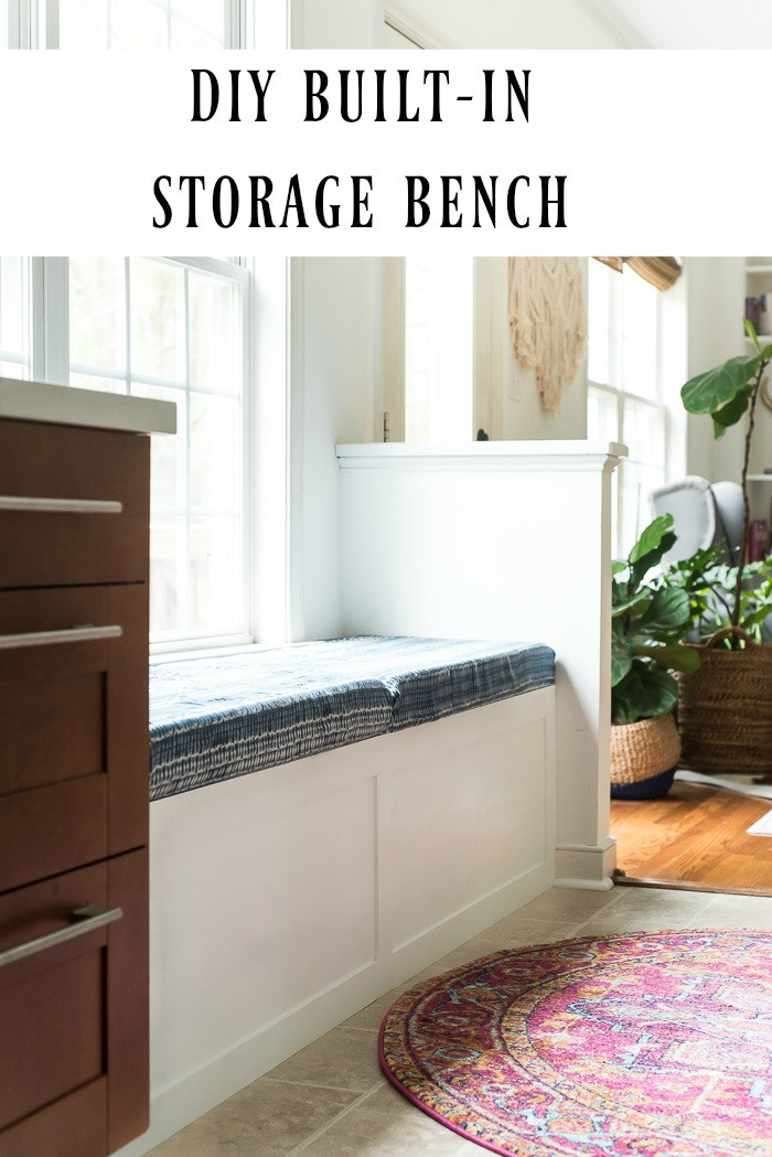 Best ideas about DIY Built In Bench . Save or Pin DIY BUILT IN STORAGE BENCH TUTORIAL Now.