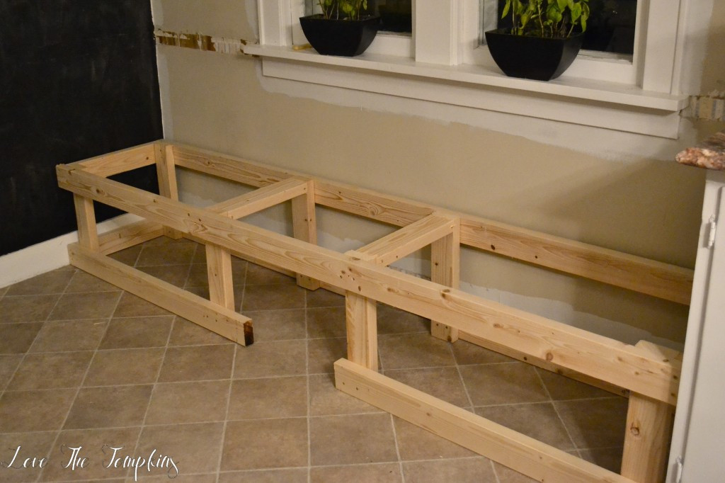 Best ideas about DIY Built In Bench . Save or Pin DIY Built in Bench Breakfast Nook – Love The Tompkins Now.
