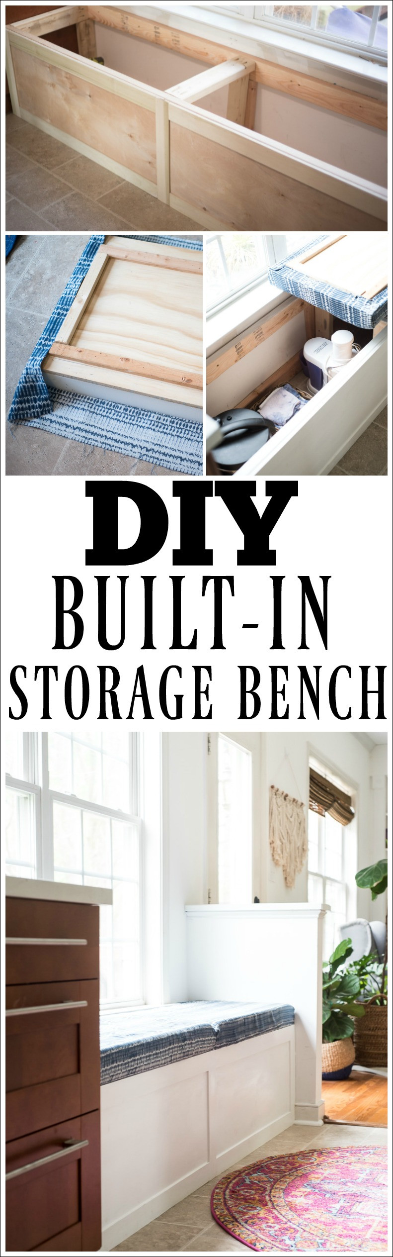 Best ideas about DIY Built In Bench . Save or Pin diy built in storage bench PLACE OF MY TASTE Now.