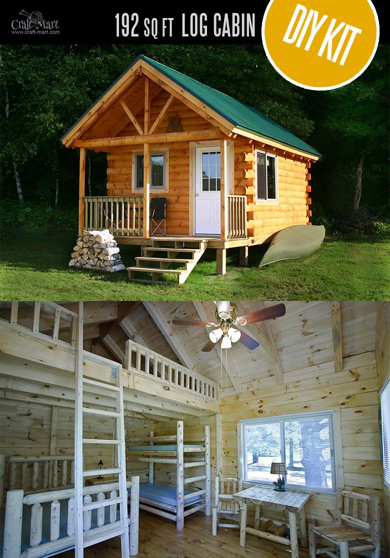 Best ideas about DIY Cabin Kit . Save or Pin Tiny Log Cabin Kits Easy DIY Project Craft Mart Now.