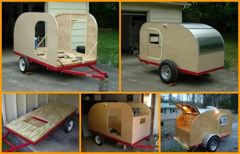 Best ideas about DIY Camper Trailer Kits . Save or Pin How To Build Your Own Teardrop Micro Camping Trailer Now.