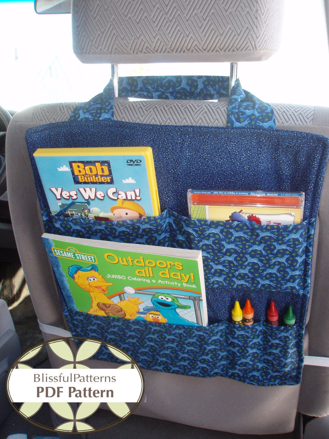 Best ideas about DIY Car Organizers . Save or Pin Car Seat Organizer PDF SEWING PATTERN Instant Download by Now.