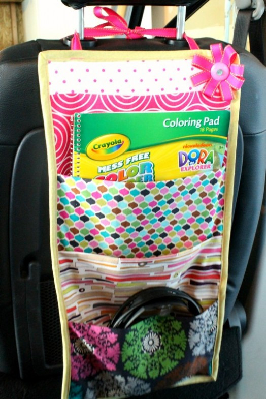 Best ideas about DIY Car Organizers . Save or Pin DIY Car Travel Book Storage For You And Your Kid Now.