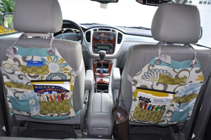 Best ideas about DIY Car Organizers . Save or Pin e cucire un organizer per i sedili dell auto Tutorial Now.