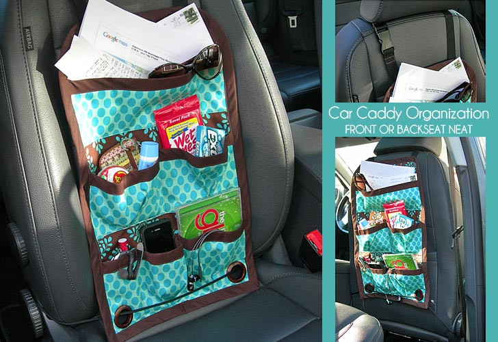 Best ideas about DIY Car Organizers . Save or Pin Porta treco para carro Artesanato na Rede Now.