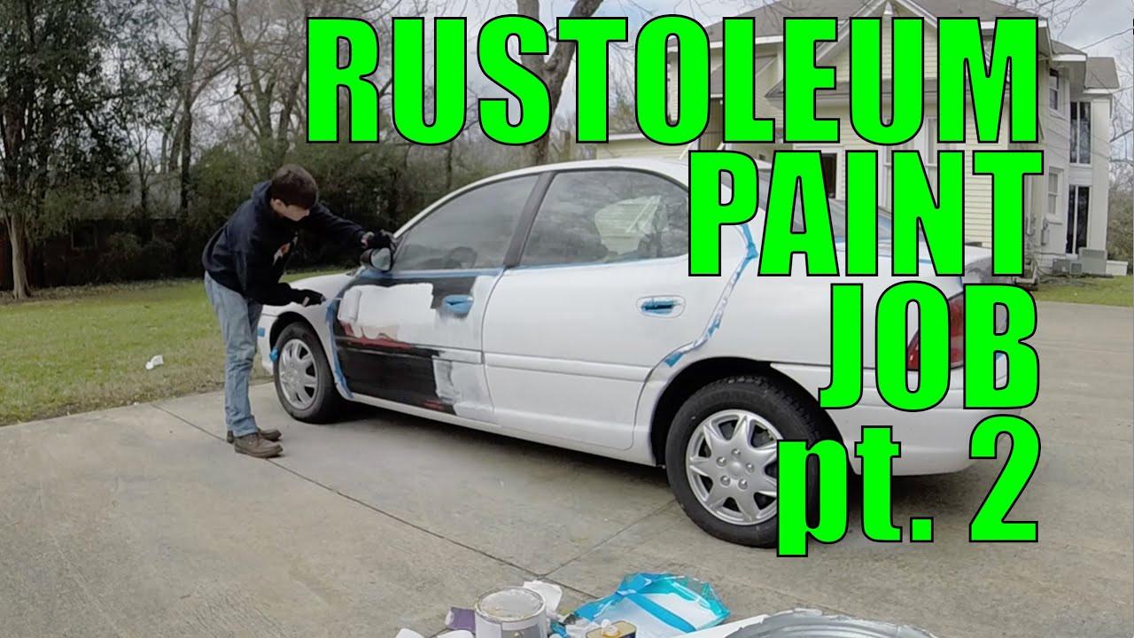 Best ideas about DIY Car Paint Jobs . Save or Pin DIY Car Projects Rustoleum Paint Job pt 2 Now.
