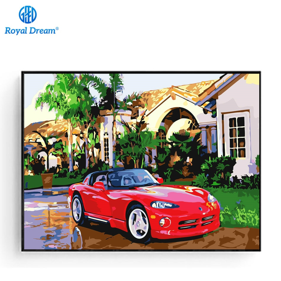 Best ideas about DIY Car Paint Kit . Save or Pin DIY Oil Painting Car Poster Hand Painted Acrylic Paint By Now.