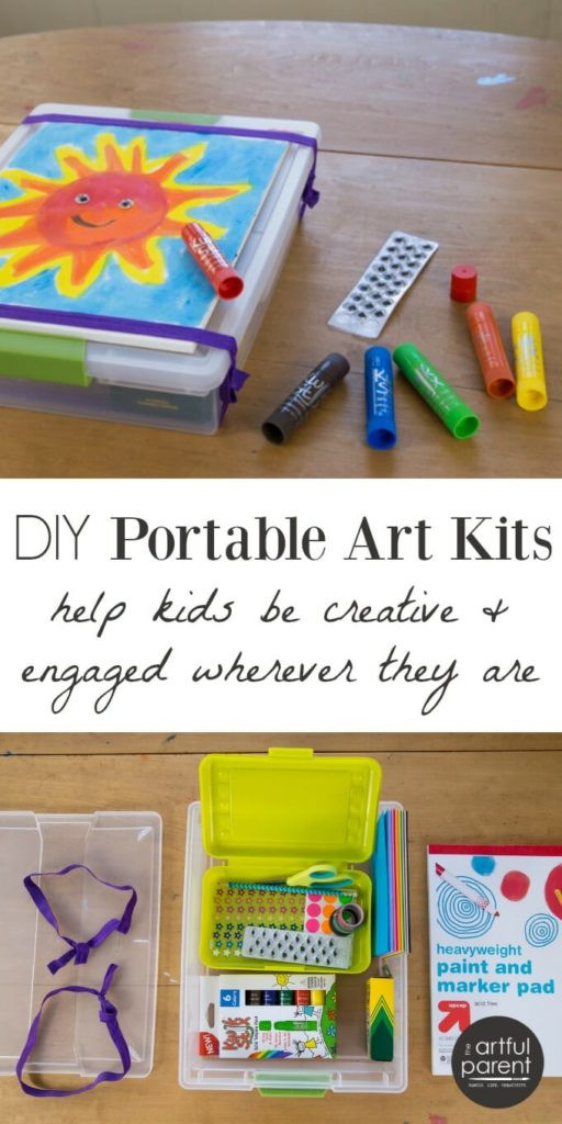 Best ideas about DIY Car Paint Kit . Save or Pin DIY Portable Art Kits for Kids to Use for Family Trips and Now.