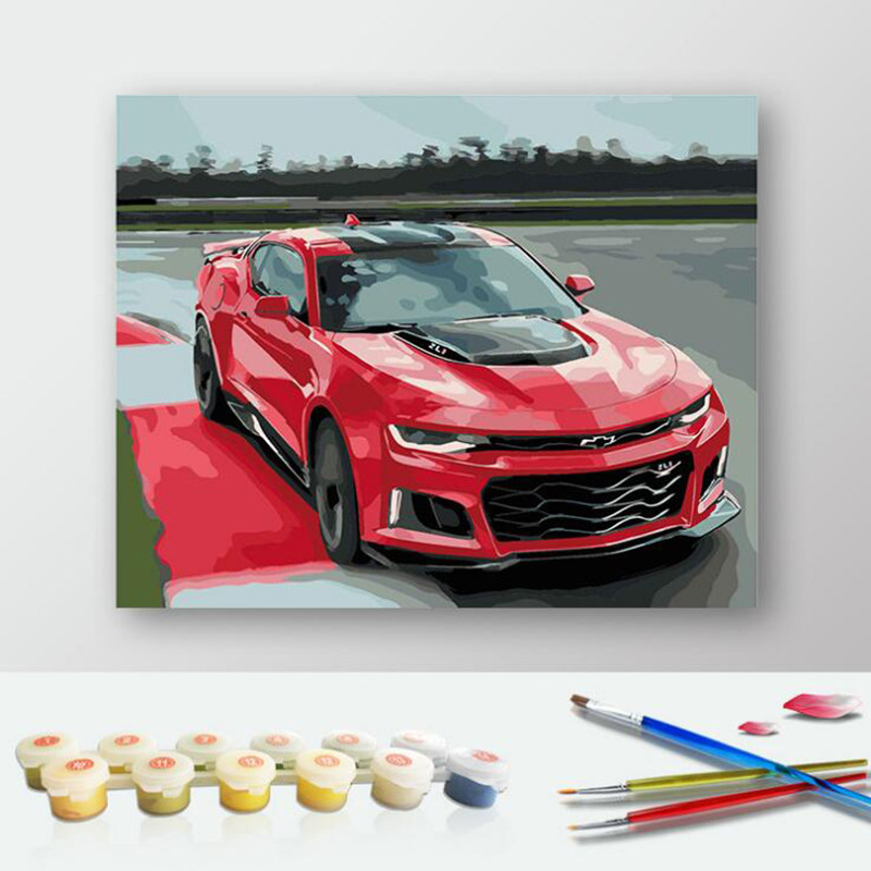 Best ideas about DIY Car Paint Kit . Save or Pin DIY Painting By Numbers Car Modern Home Wall Decor Kits Now.
