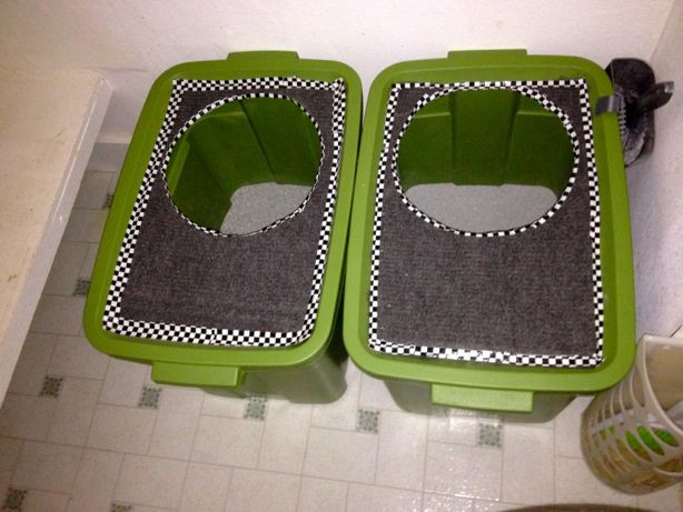 Best ideas about DIY Cat Litter Boxes . Save or Pin It's the cat's ass DIY top loading cat litter boxes Now.