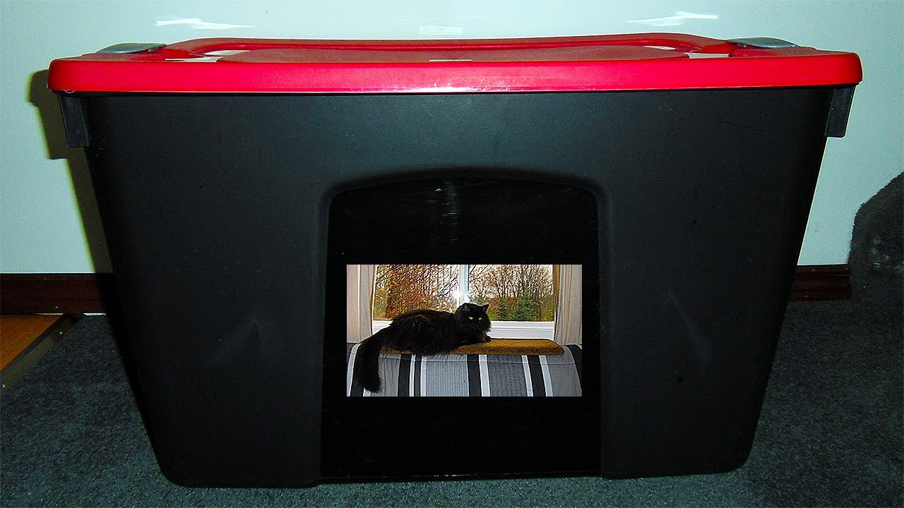 Best ideas about DIY Cat Litter Boxes . Save or Pin DIY Cat litter box easily made cheap$ from a Tote storage Now.