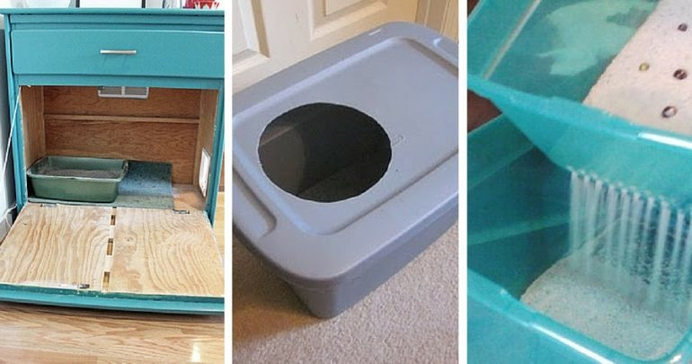 Best ideas about DIY Cat Litter Boxes . Save or Pin Smart DIY Options for a Cleaner Litter Box Now.