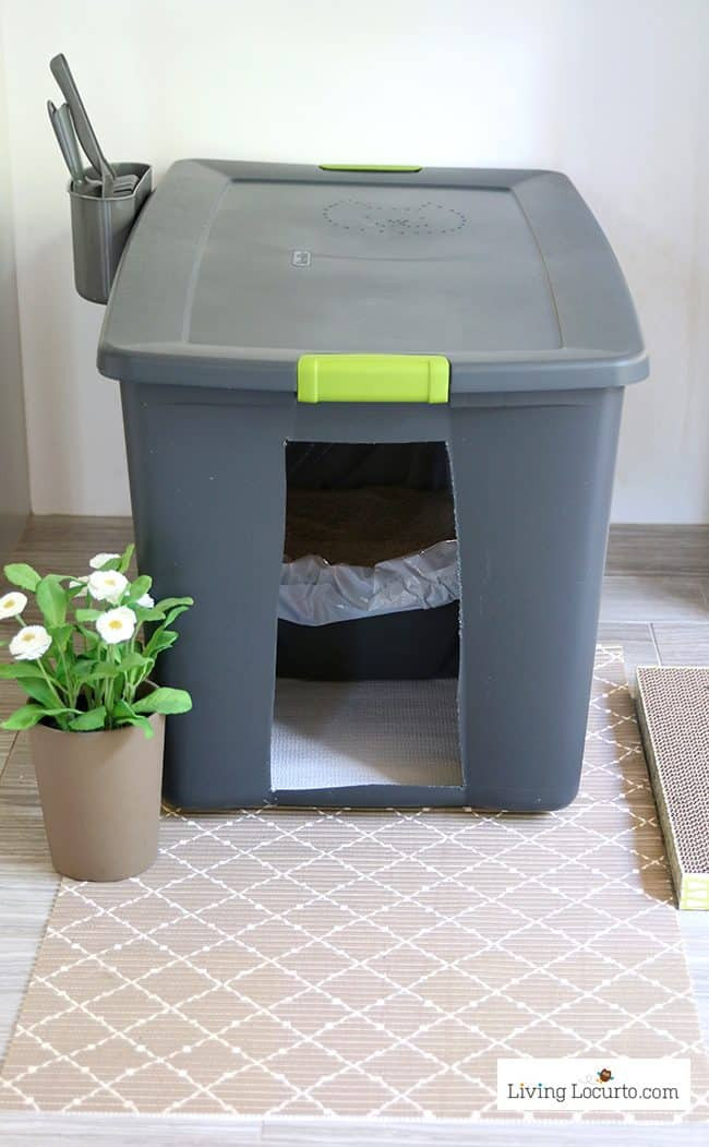 Best ideas about DIY Cat Litter Boxes . Save or Pin DIY Cat Litter Box Holder Now.