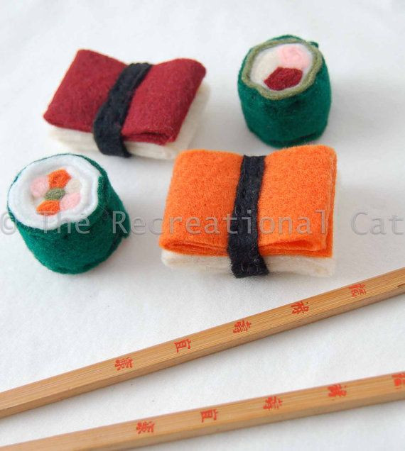 Best ideas about DIY Catnip Toys . Save or Pin felt sushi cat toys with catnip inside could easily DIY Now.