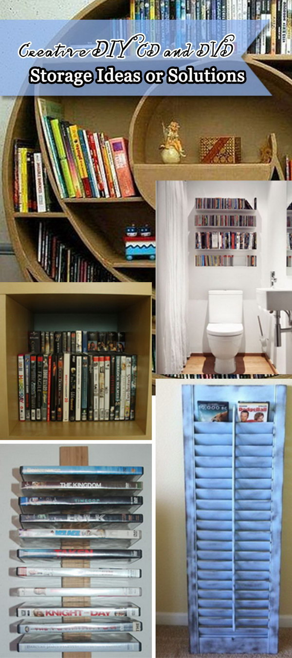 Best ideas about DIY Cd Storage . Save or Pin Creative DIY CD and DVD Storage Ideas or Solutions Hative Now.