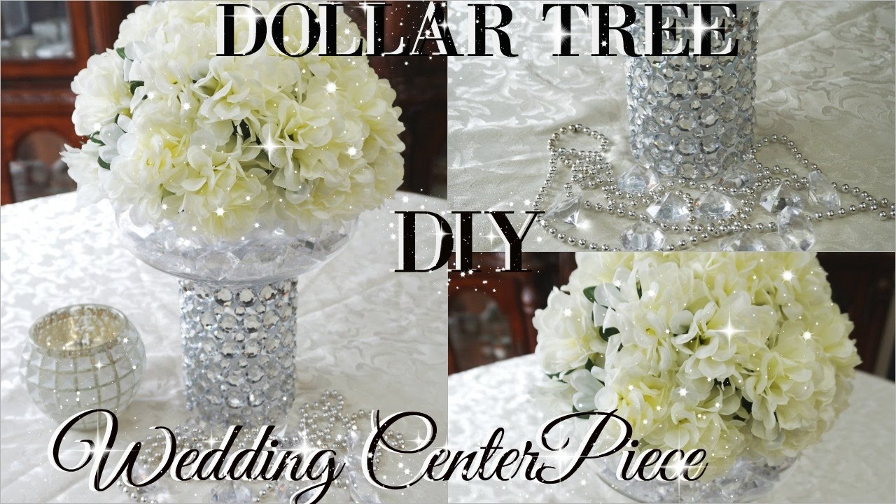 Best ideas about DIY Centerpiece Wedding . Save or Pin DIY DOLLAR TREE BLING FLORAL WEDDING CENTERPIECE 2017 Now.