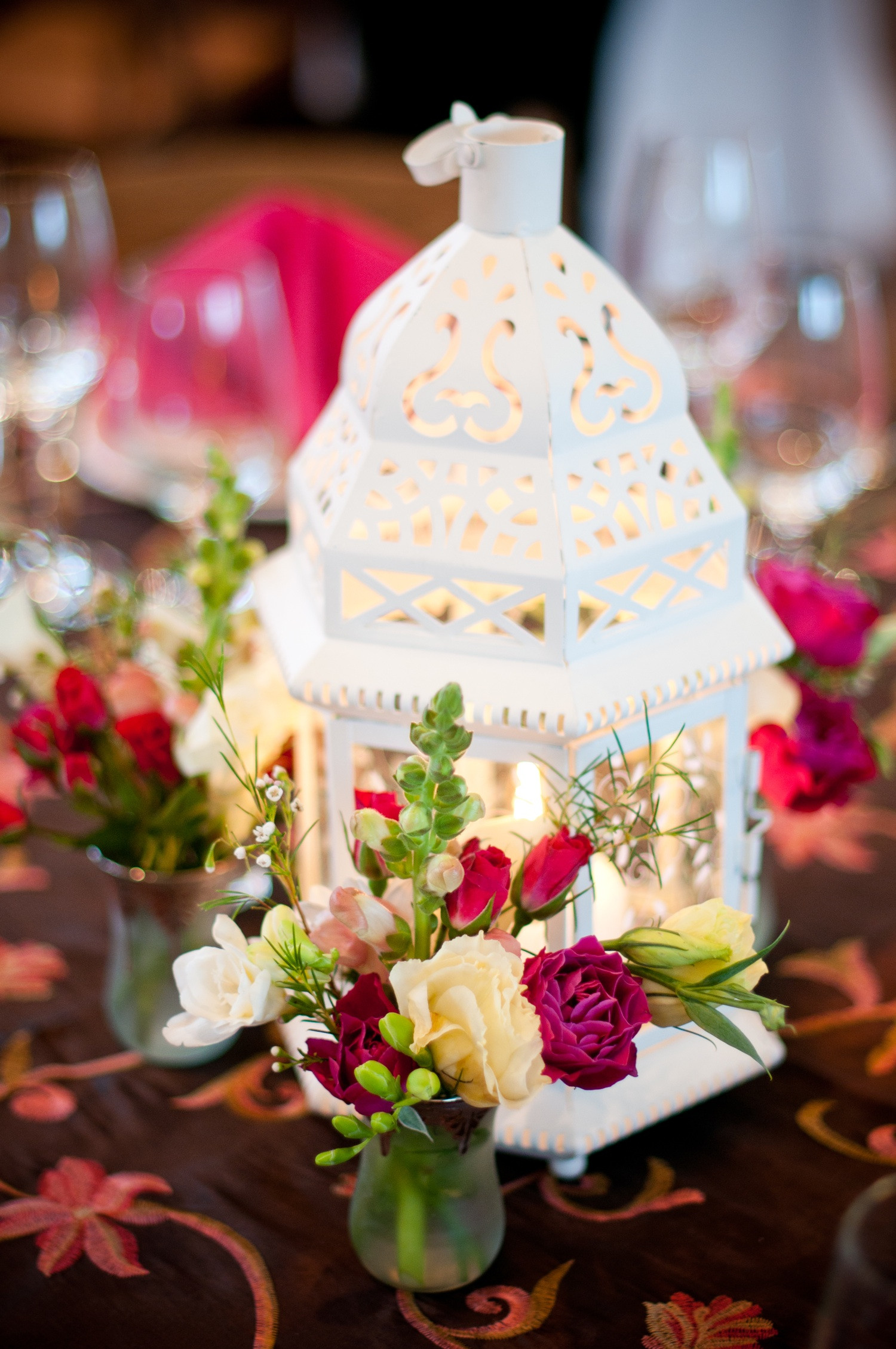 Best ideas about DIY Centerpieces For Wedding Receptions . Save or Pin DIY wedding reception centerpiece with pink wedding Now.
