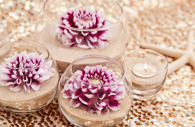 Best ideas about DIY Centerpieces For Weddings . Save or Pin DIY Flower & Sand Wedding Centerpieces Now.
