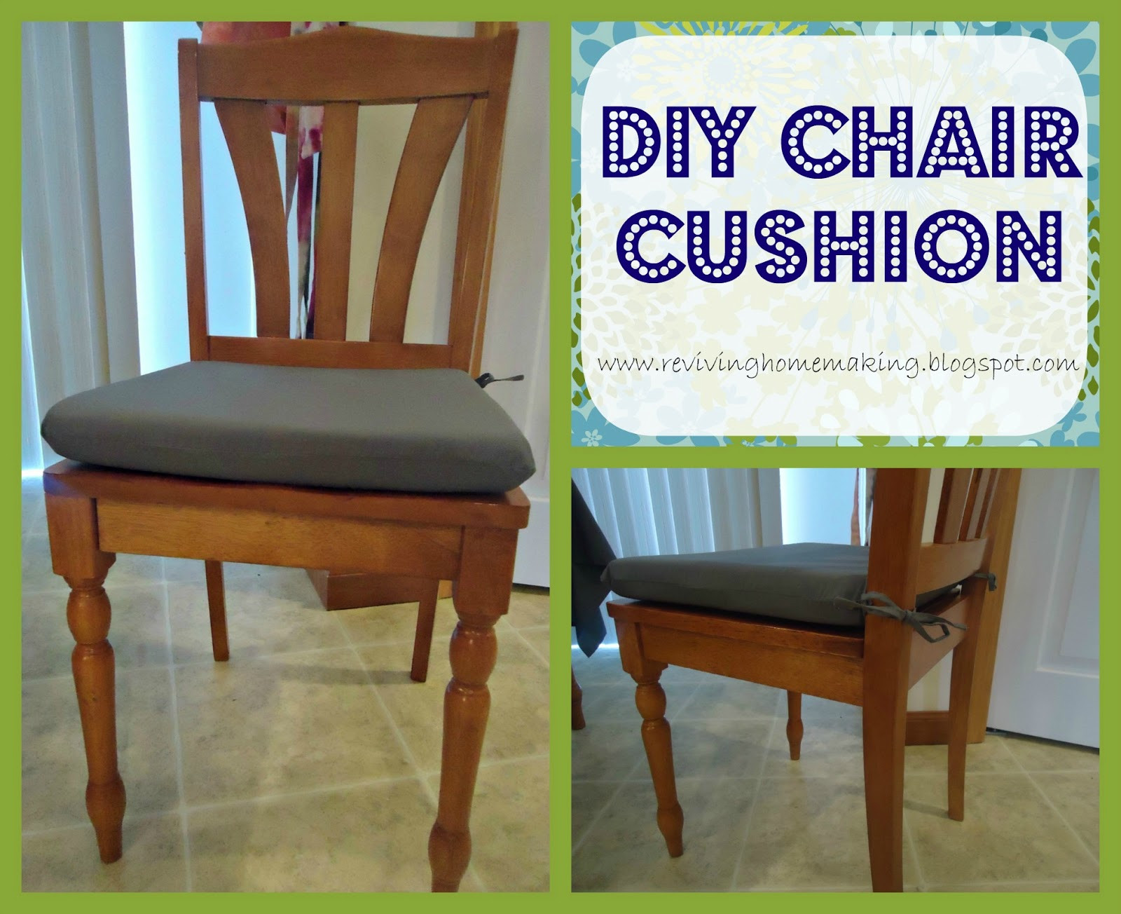 Best ideas about DIY Chair Cushion . Save or Pin Reviving Homemaking DIY Chair Cushion Now.
