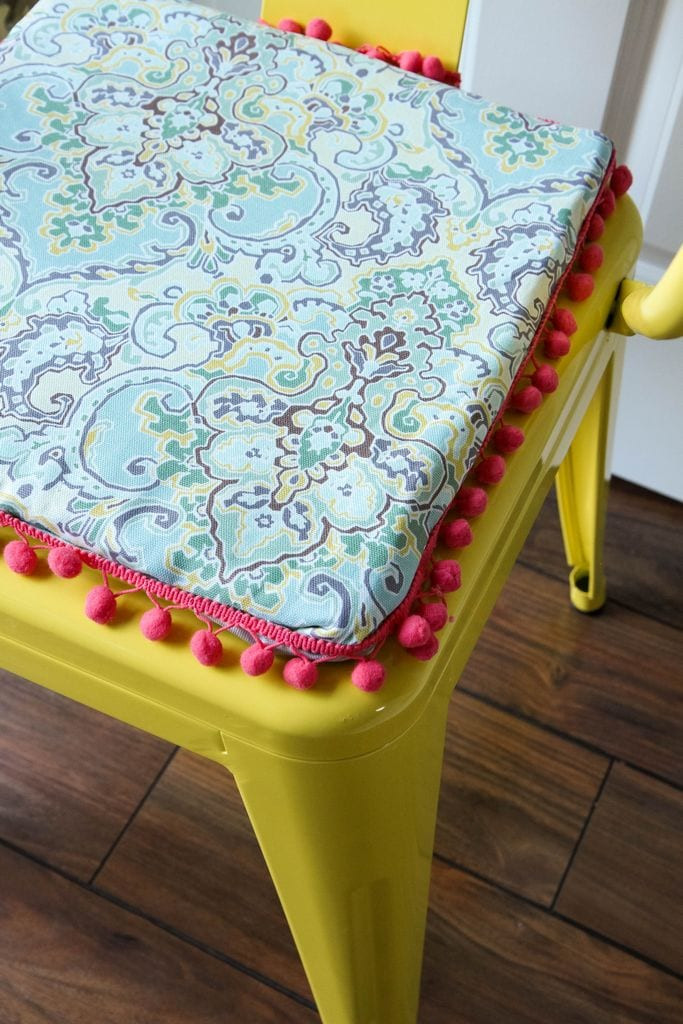Best ideas about DIY Chair Cushion . Save or Pin DIY Metal Chair Cushion MomAdvice Now.
