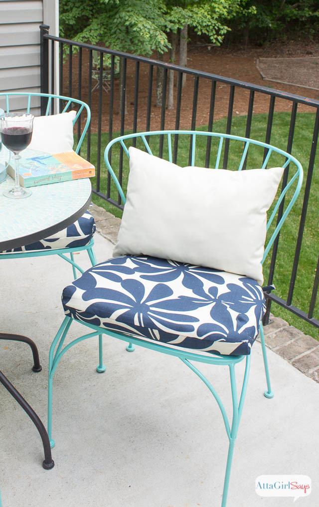 Best ideas about DIY Chair Cushion . Save or Pin Porch Makeover Progress DIY Outdoor Chair Cushions Atta Now.