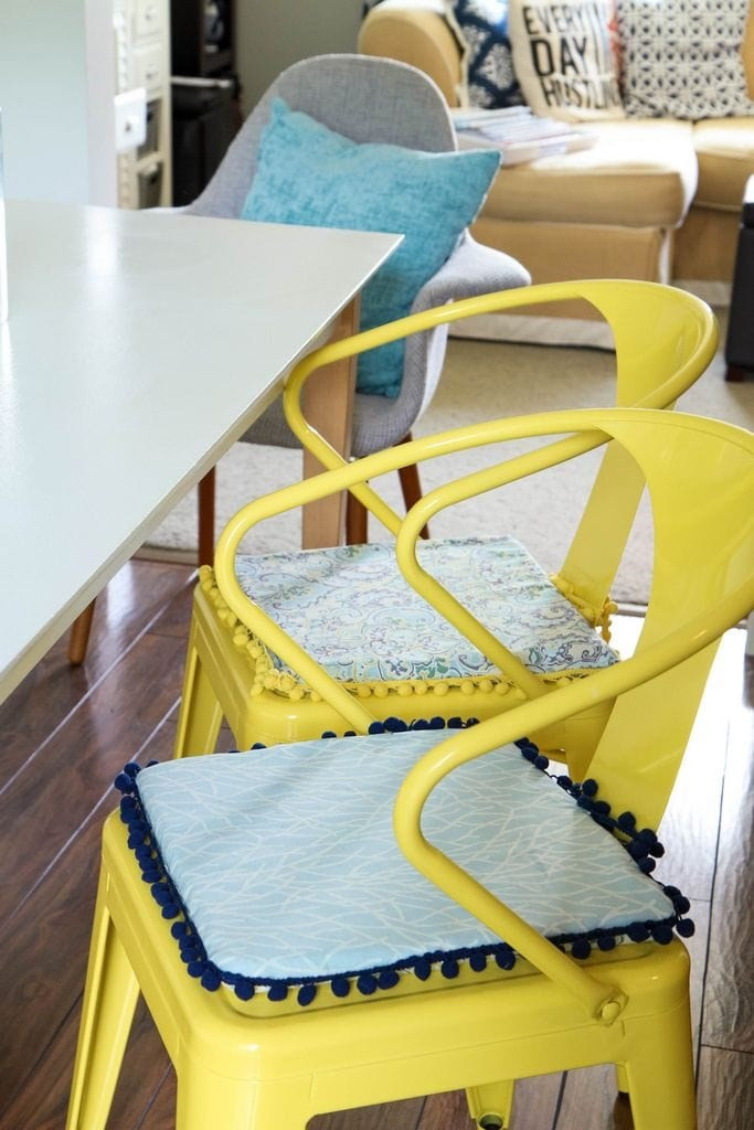 Best ideas about DIY Chair Cushion . Save or Pin DIY No Sew Reversible Chair Cushions MomAdvice Now.