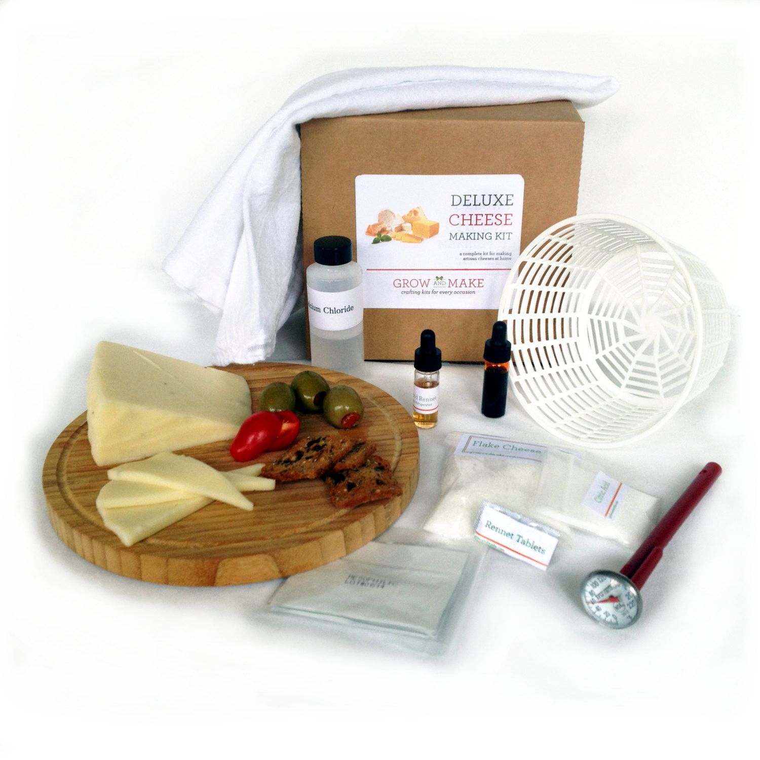 Best ideas about DIY Cheese Kit . Save or Pin DIY Deluxe Cheese Kit Now.