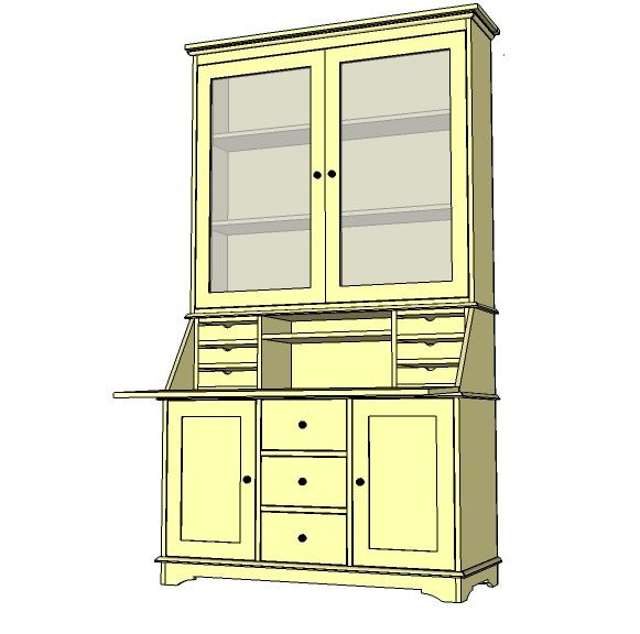 Best ideas about DIY China Cabinet Plans . Save or Pin Diy China Hutch Plans WoodWorking Projects & Plans Now.