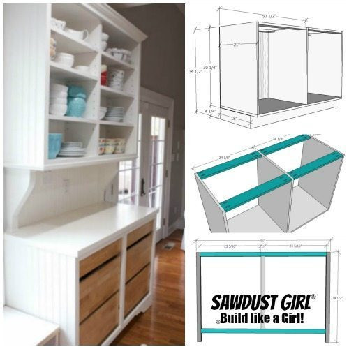 Best ideas about DIY China Cabinet Plans . Save or Pin Plans for China Cabinet Base Sawdust Girl Now.