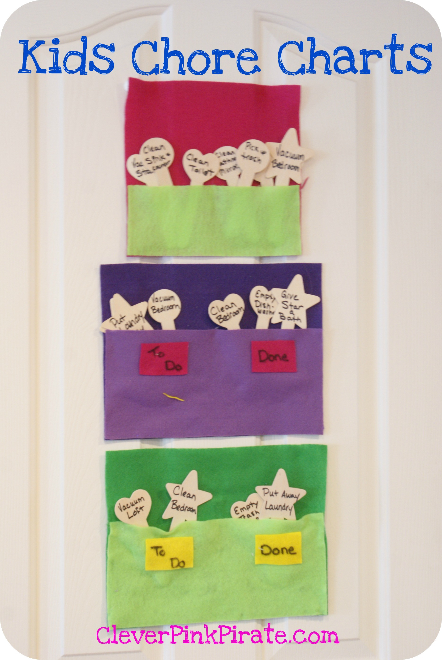 Best ideas about DIY Chore Chart For Kids . Save or Pin DIY Felt Kids Chore Chart Clever Pink Pirate Now.