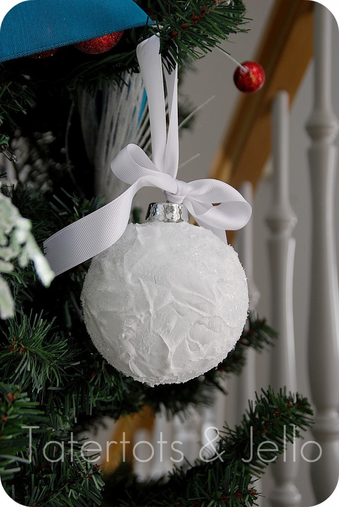 Best ideas about DIY Christmas Ball Ornaments . Save or Pin Snow Ball Ornaments Homemade Christmas Decor The Scrap Now.