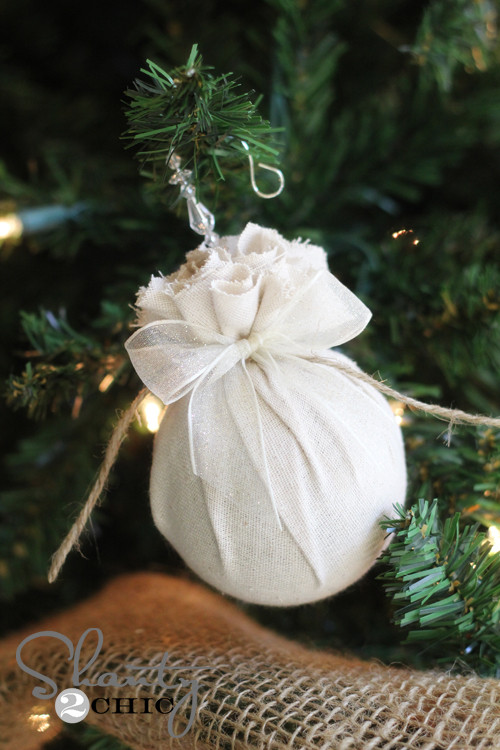 Best ideas about DIY Christmas Ball Ornaments . Save or Pin DIY Christmas Ornament Easy Fabric Balls Shanty 2 Chic Now.