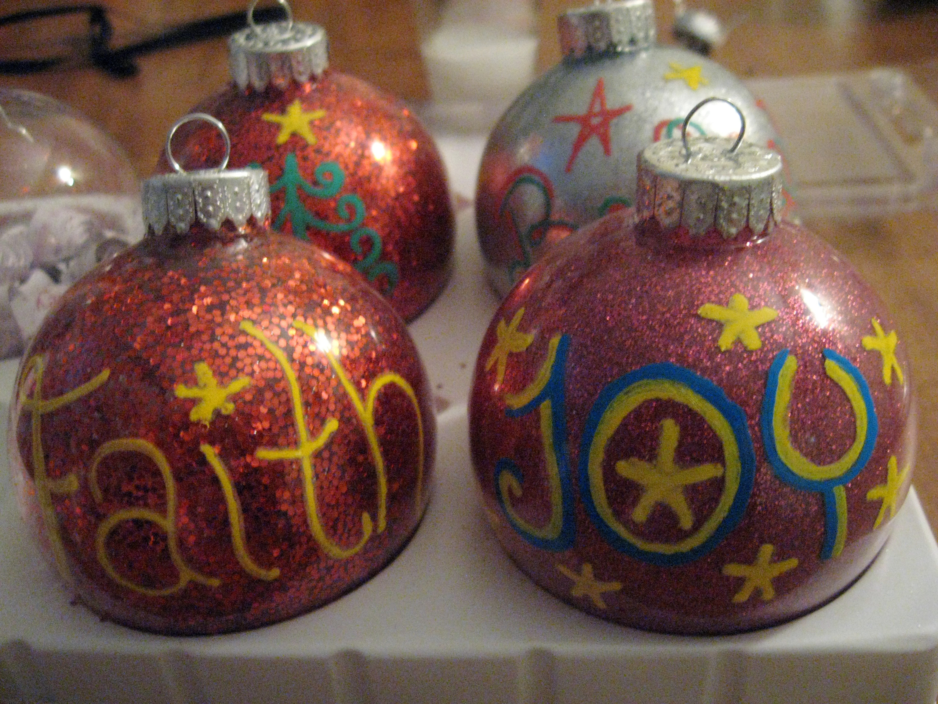 Best ideas about DIY Christmas Ball Ornaments . Save or Pin DIY Glitter Christmas Ball Ornaments Now.
